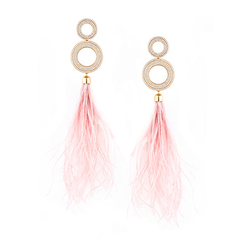 TRIBALE FEATHERS EARRINGS