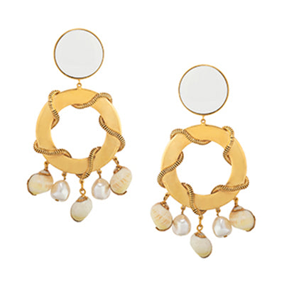TRIBALE SEA SHELL EARRINGS