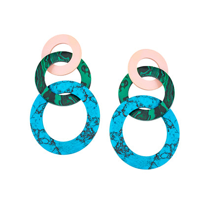 TRIBALE STATEMENT RING EARRINGS