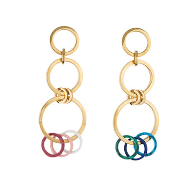 TRIBALE DANGLING HOOP EARRINGS