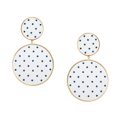 TRIBALE POLKA DOTS EARRINGS