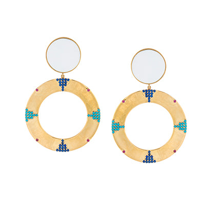TRIBALE STATEMENT ROUND EARRINGS