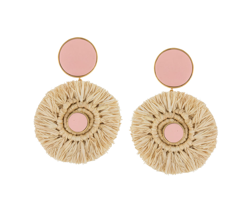 RAFFIA TRIBALE EARRINGS