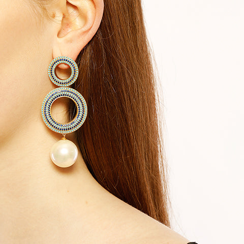 Grommet Pearl Earrings