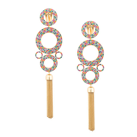 TRIBALE STATEMENT RAINBOW EARRINGS