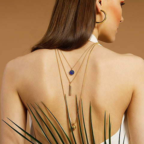 LONG CHAIN TRIBALE NECKLACE