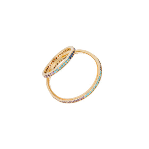 CRISS-CROSS RAINBOW THUMB RING
