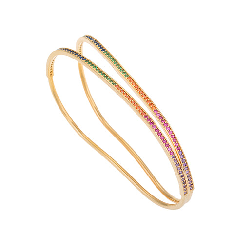 CRISS-CROSS RAINBOW HAND BRACELET