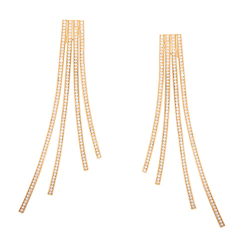 CRISS-CROSS STATEMENT EARRINGS