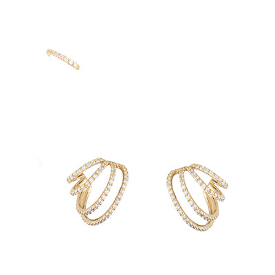 SET OF THREE CRISS-CROSS EARRINGS