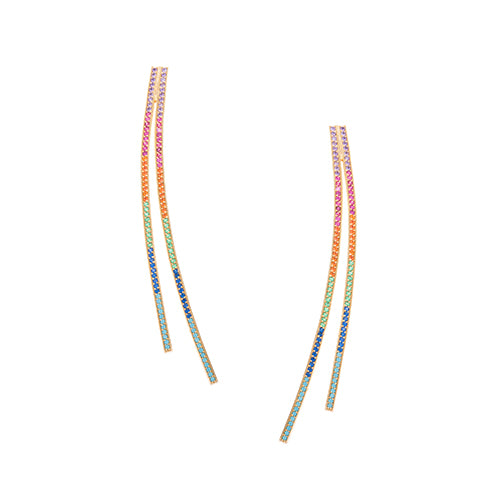 CRISS-CROSS RAINBOW EARRINGS