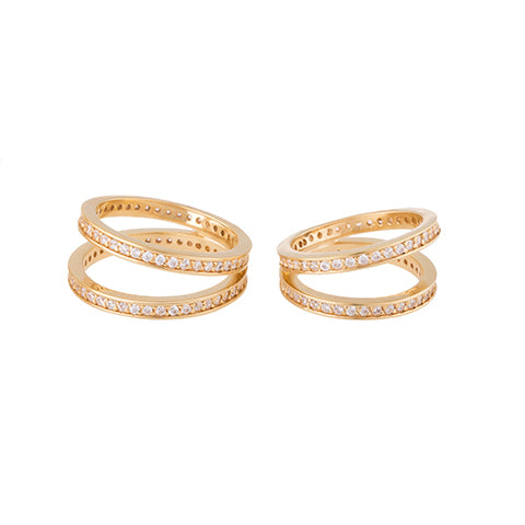 SET OF TWO CRISS CROSS RINGS