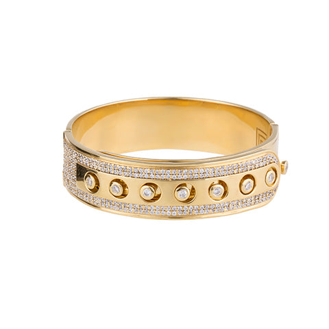 CAP PAVE BANGLE