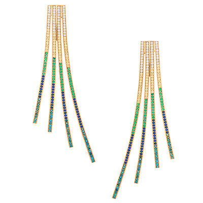 CRISS CROSS RAINBOW EARRINGS