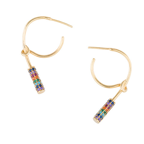 RAINBOW KNOT HOOP EARRINGS