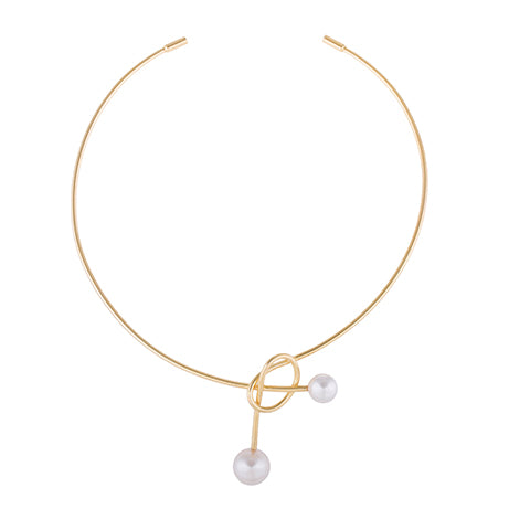 STATEMENT KNOT PEARL NECKLACE
