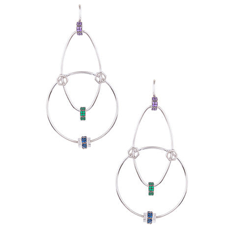 STATEMENT WIRE NUT EARRINGS
