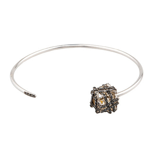 CUBE DIAMOND BANGLE