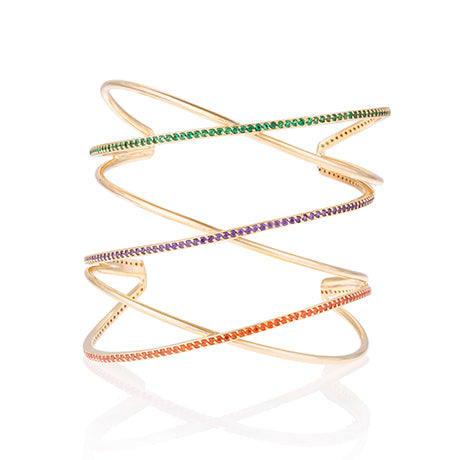 CRISS CROSS RAINBOW CUFF