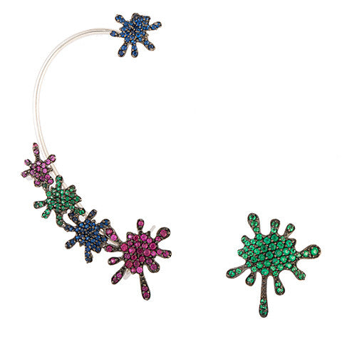 PAINT SPLASH EAR-CUFF
