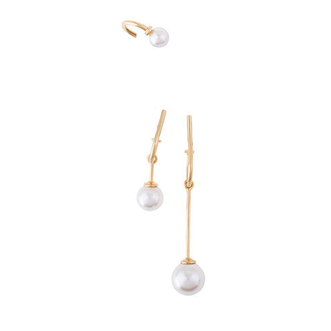 MINI NAILS EAR-SET WITH SWAROVSKI PEARL