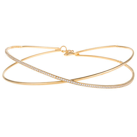 CRISS CROSS CHOKER NECKLACE