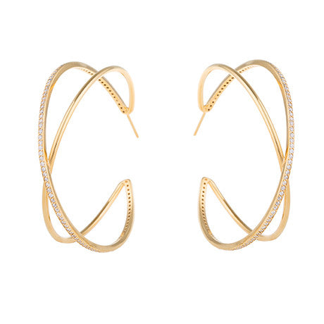 CRISS CROSS HOOP EARRINGS