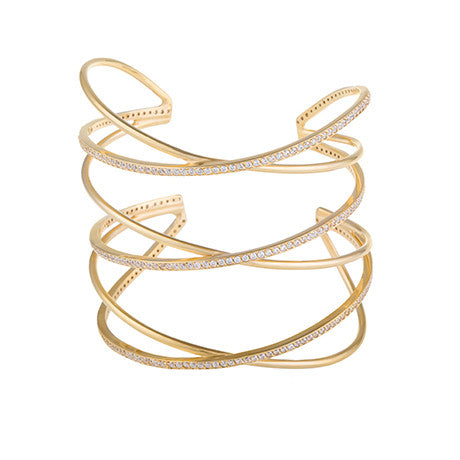 STATEMENT CRISS CROSS CUFF