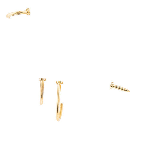 SET OF NAIL EARRINGS