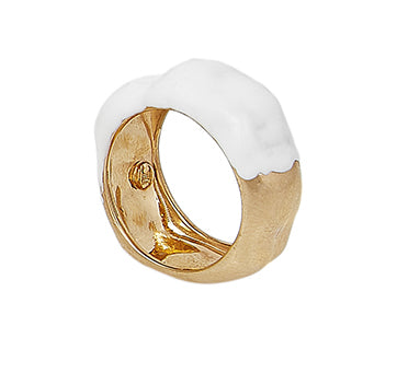 FEMININE WAVES LARGE RING