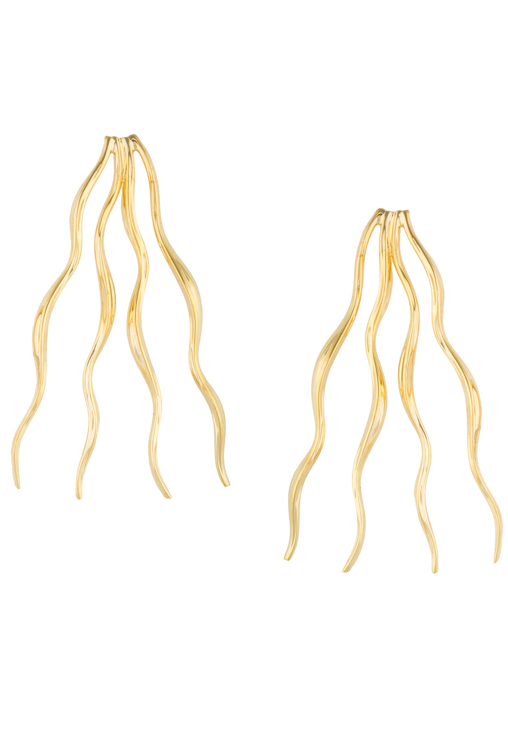FEMININE WAVES STATEMENT EARRINGS