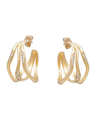 FEMININE WAVES HOOP EARRINGS