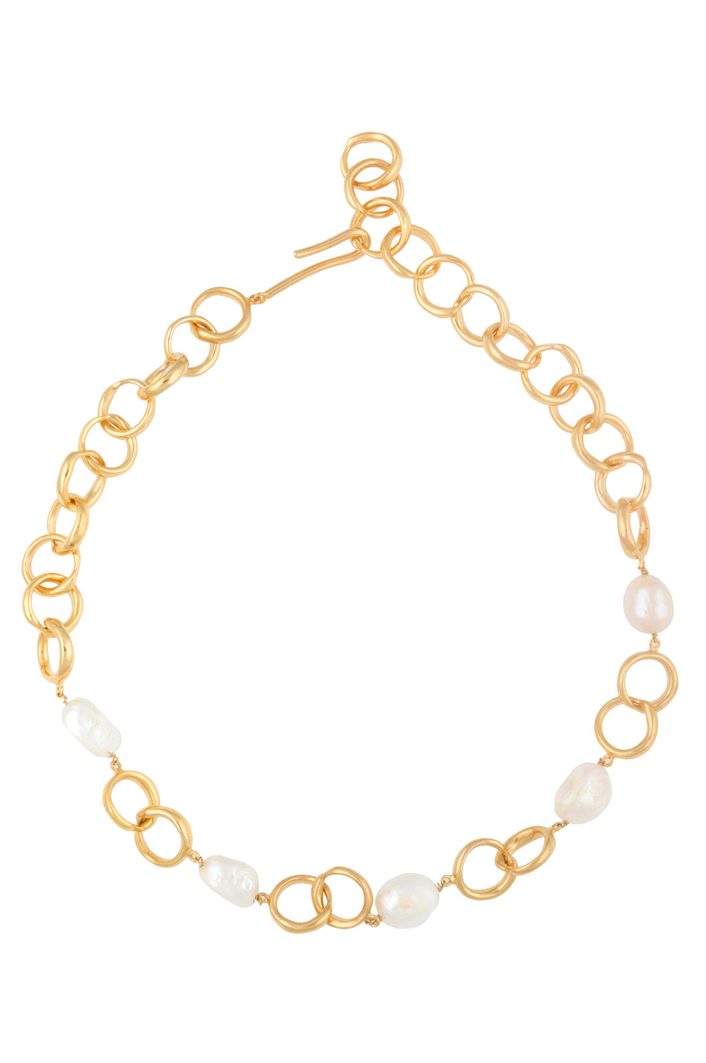 WAVE LINK PEARL NECKLACE