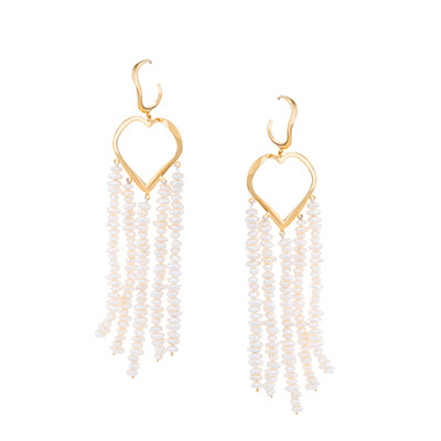 HEART SHAPE FEMININE WAVES EARRINGS