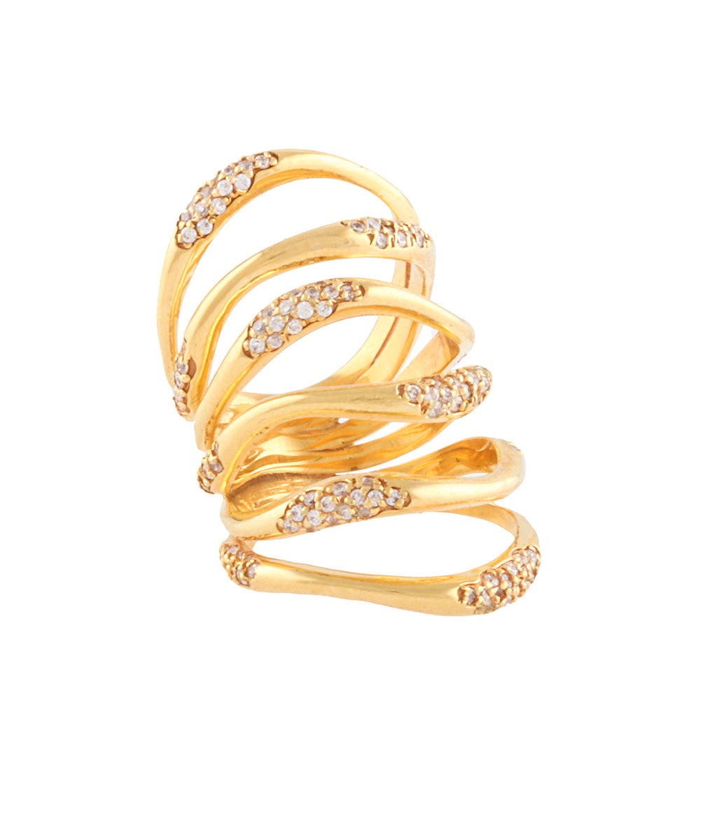 STATEMENT MULTI WAVES RING