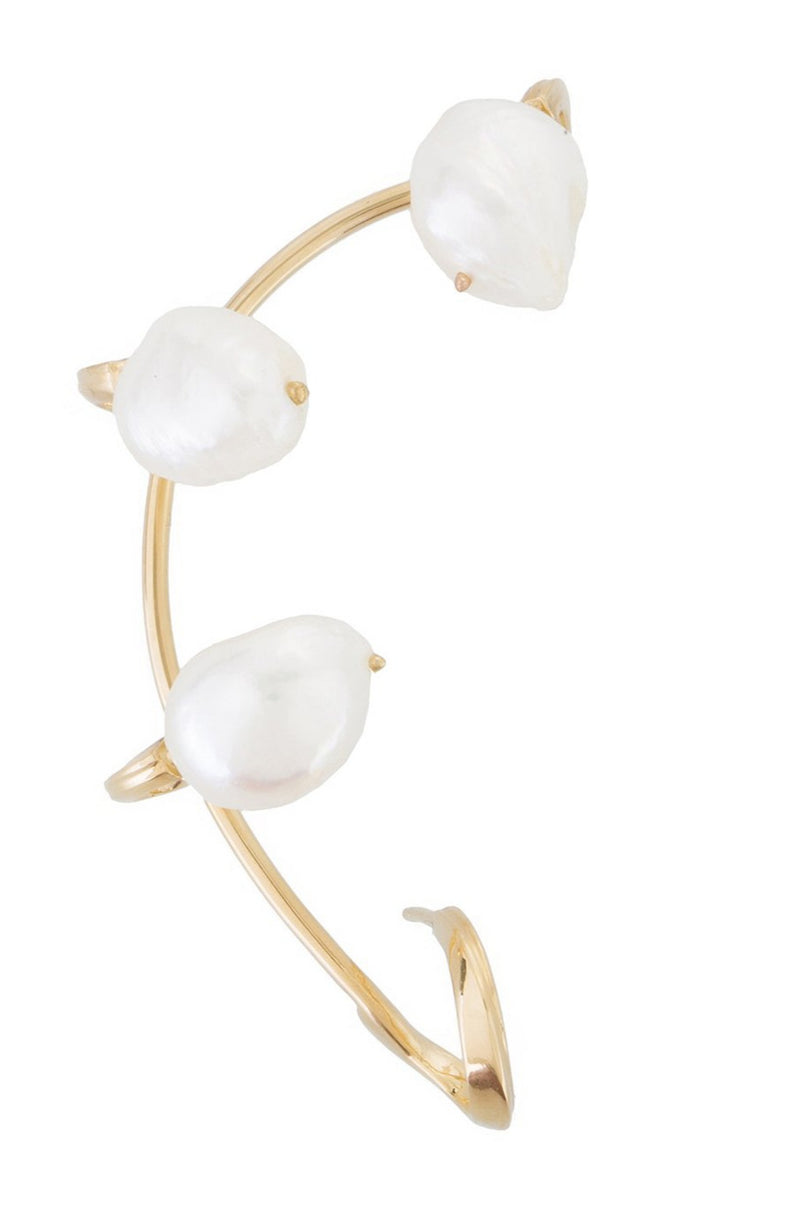FEMININE WAVES PEARL EAR-CUFF