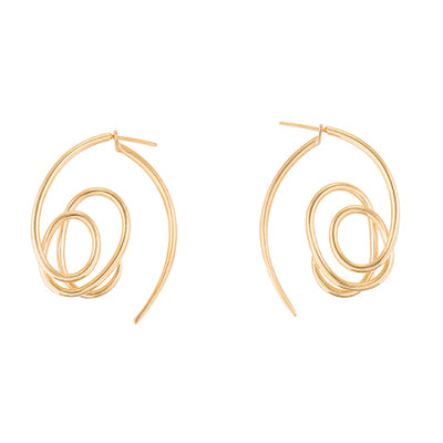 KNOT EAR-JACKET EARRINGS