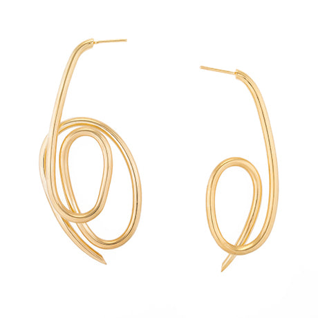 ASYMMETRICAL KNOT EARRINGS