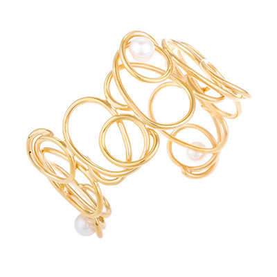 Knot pearl bangle