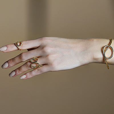 SET OF TWO KNOT RINGS