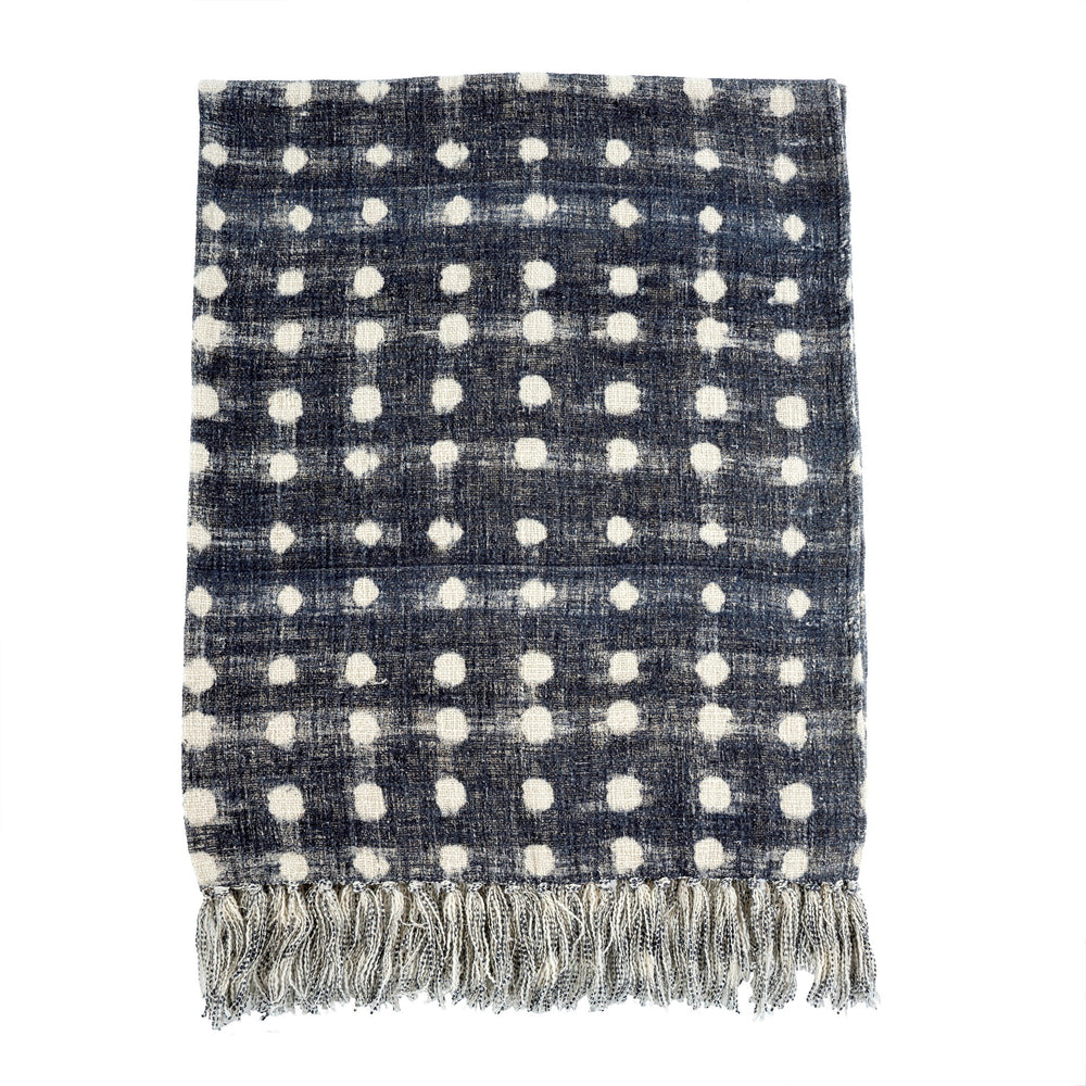 Indigo Dot Throw