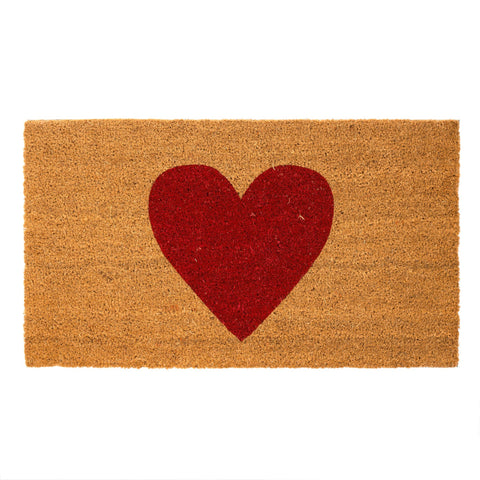 Red Heart Doormat
