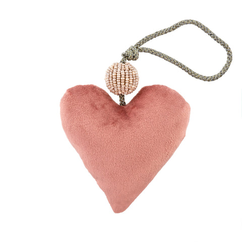 Velvet Heart Ornament - Pink