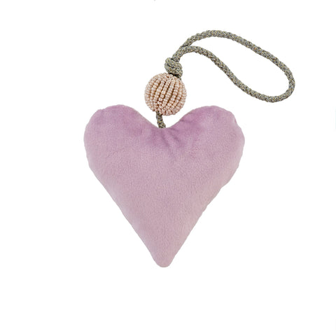 Velvet Heart Ornament - Lavender