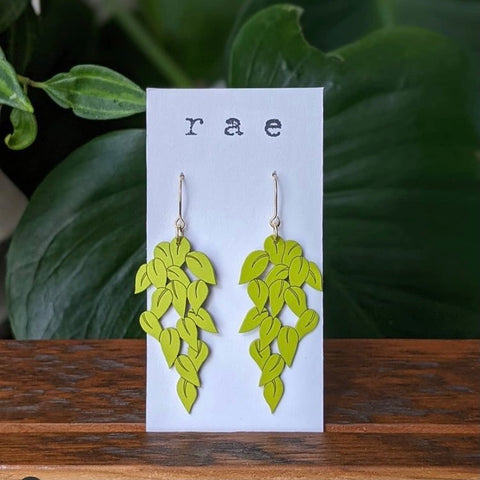 Devil's Ivy Drop Earrings - Neon