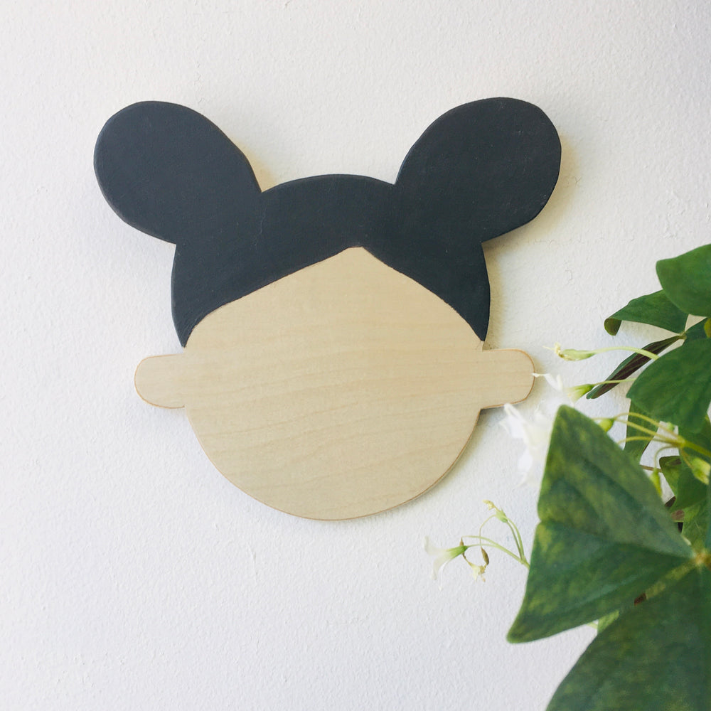Happy Head Wall Decor - Black