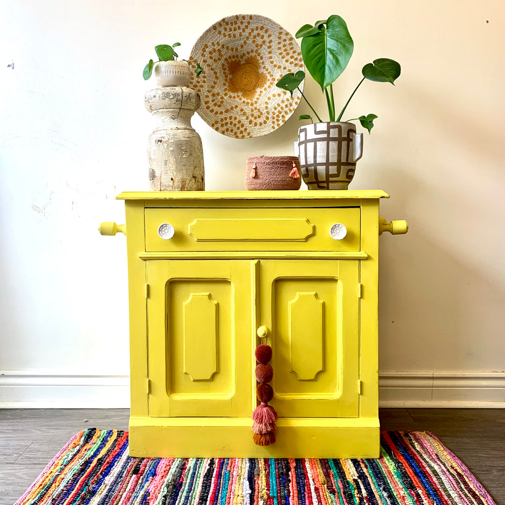 Yellow Storage Cabinet