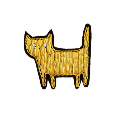 Golden Kitty Patch Pin