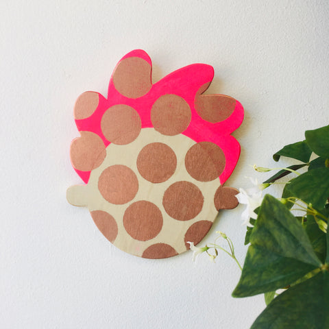 Happy Head Wall Decor - Pink/Copper