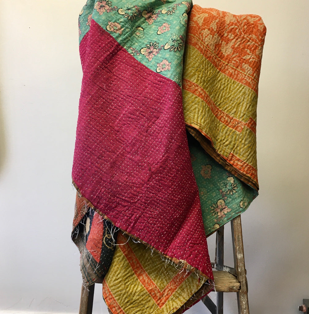 Kantha Throw #12